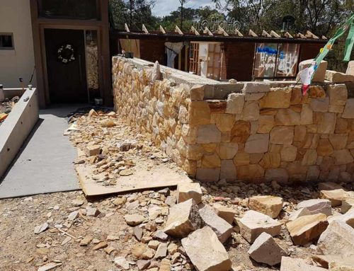 Sandstone Offcuts Retaining Wall