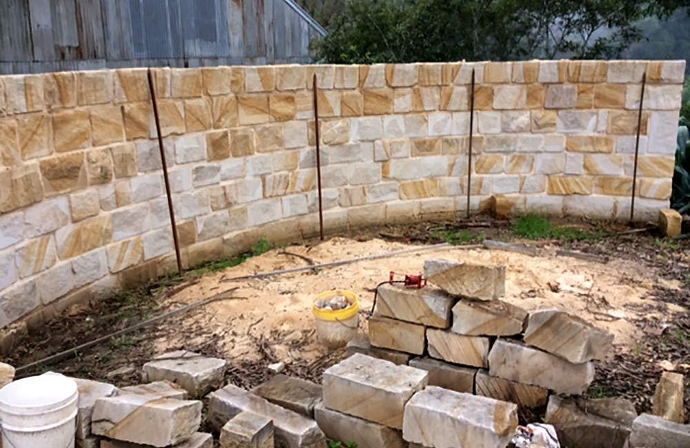 Sandstone Fire Pit Wood Storage Sydney Sandstone Cutter